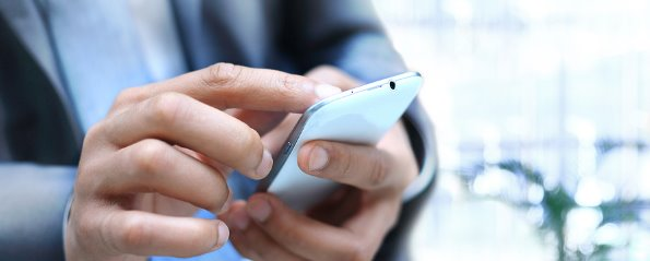 Mortgage broker with smartphone