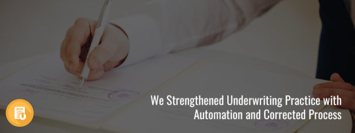 We Strengthened Underwriting Practice with Automation and Corrected Process